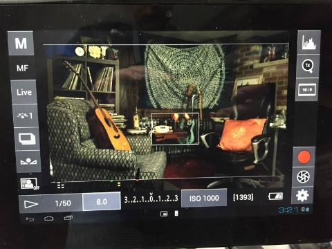 Sony Tablet used as on set monitor